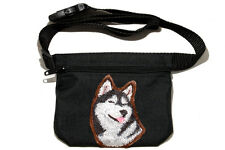 Embroidered Dog treat pouch/bag - for dog shows. Breed - Siberian Husky
