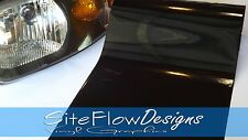 "12""x48"" Dark Black Gloss - Smoke Headlight Taillight Fog Light Tint Film Vinyl"