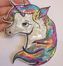 extra large unicore patches sequin applique iron on sew on patch horse motif UK