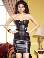 Faux Leather Women Corset