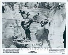 1982 Arnold Schwarzenegger Sven Ole Thorsen Fight Conan Barbarian Press Photo