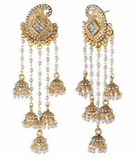 Women Gold Plated Indian Bollywood Vintage Ethnic Bridal Fashion Jhumka Earrings