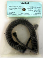 ROLLEI COILED PC CABLE WITH LEICA TYPE LOCKING PLUG