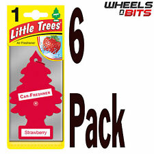 6 x Magic Tree Strawberry Scent Little Trees Car Home Air Freshener Freshner