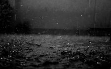 Framed Print - Heavy Rain Bouncing for the Pavement (Picture Poster Weather Art)
