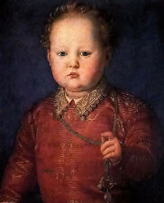 Oil painting agnolo bronzino - don garcia de medici little fat boy lovely child