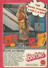 X1054 BARBIE - Acapulco - Mattel - Pubblicità 1979 - Advertising