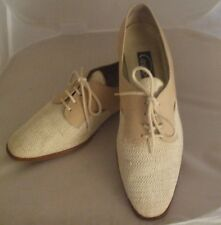 Cappagallo Size 10 Suede/Textile Sand Color Great Gatsby Style Womens Shoes