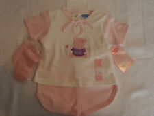 Bon Bebe Girls 6-9 Month Shorts Shirt Socks Outfit NWT  Defect