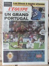 L'Equipe du 13/6/2000 - Foot : Euro 2000 - Les Bleus - Portugal - Allemagne