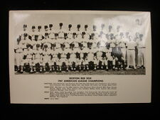 1967 Boston Red Sox Team Photograph -3″ x 5″ Postcard Size, B&W
