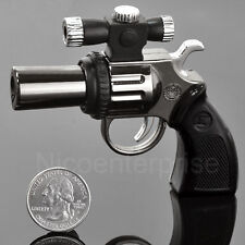 Pistol Lighter Laser Pointer -1m Gun Gas Butane Refillable Windproof Jet Novelty