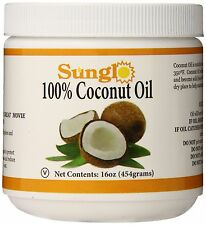 100% Organic Coconut Oil Extra Pressed Pure Virgin Cooking Hair Skin Care 16oz
