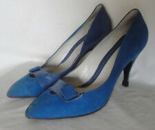 New listing Vintage Blue Suede & Leather Puccini High Heel Shoes 7