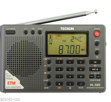 TECSUN PL-380 (Black Color) DSP PLL World Band Radio       ENGLISH VERSION