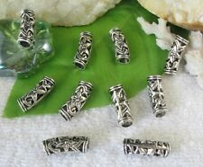 40pcs Tibetan silver floral tube spacer beads FC10528