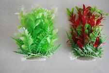 Acuario Tropical Plástico Plantas x 2 aprox. 16cm apta para todos los acuarios