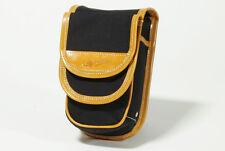 Gilles Berthoud City Bag Taille s Selle Paquet noir avec tan bordure en cuir