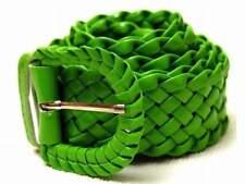 NEU 95cm FLECHTGÜRTEL in grün FLECHT GÜRTEL LACKGÜRTEL GLÄNZEND DAMENGÜRTEL