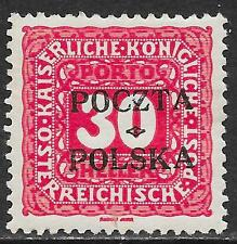 Poland stamps 1919 MI Due 6 signed  MLH  VF