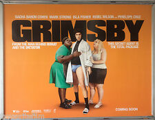 Cinema Poster: GRIMSBY 2016 (Advance Quad) Sacha Baron Cohen Rebel Wilson