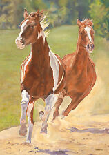 "Running Free Horse Garden Flag Spring Everyday Decorative Country Farm 12"" x 18"""