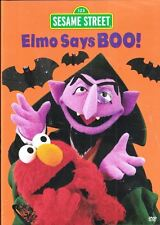 Sesame Street ELMO SAYS BOO DVD Sealed Spooky Time at the Count's Castle