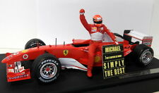 Hot wheels 1/18 scale B6200 ferrari F1 schumacher 7 fois avec c avec figurine