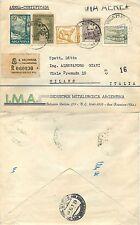 2197 - Argentina - Raccomandata via aerea da San Francisco a Milano, 06/06/1961