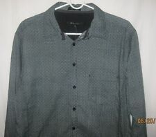Mens NWT CJ Black Size L Long Sleeve Button Up Casual Shirt Slim Fit