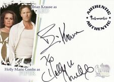 Charmed Destiny Holly Marie Combs & Brian Krause A2 Dual Auto Card