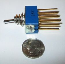 MICRO-SWITCH MINIATURE TOGGLE SWITCH 4P-DT WW LEADS MADE IN JAPAN