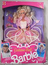 NRFB Vintage Mattel 1990 ~COSTUME BALL Barbie Doll #7123 ~ Ballgown & Mask