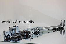 TWH Kenworth T908 mit Drake 2+4achs Tieflader  weiß  1:50 NEU mit OVP