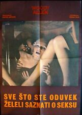 EVERYTHING YOU ALWAYS WANTED TO KNOW.. Yugoslavian movie poster WOODY ALLEN 1972