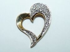 Elegant Vintage 14K Gold Marked, Stylized Heart-Shaped Pendant, L 2 cm