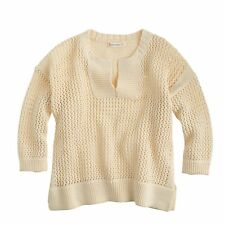 New J.Crew Girls' Ivory Cotton Ribbed Sweater - Size 8