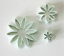 Daisy Shaped Cutters, Set of 3 Cutters, Sugarcraft, Cake Decorating, Baking