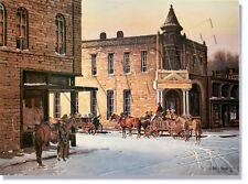 """*** """"WINTERTIME IN STEPHENVILLE"""" LIMITED EDITION PRINT BY JAMES BOREN ****"""
