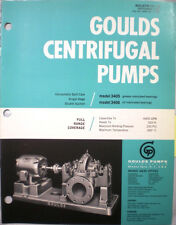 GOULDS Centrifugal Pump Pumps Catalog Die Formed ASBESTOS Packing Gaskets 1962