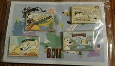 Disney Bolt PostCard pin set Mittens DSSH Soda Fountain LE Rare VHTF LE 150