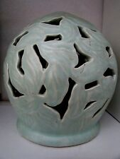 INCISED POTTERY LAMP BASE GUM LEAF HARVEY SCHOOL AUSTRALIAN POTTERY SIGNED BASE