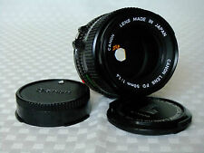 Canon FD 50mm 1:1.4 Lens With Front & Rear Caps VGC