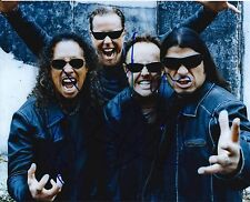 Kirk Hammett, Lars Ulrich Robert Trujillo signed Metallica 8x10 photo @ Hetfield