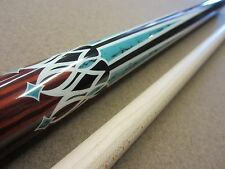 Kaiser Redwood Stained Wrapless Pool Billiards Cue with FREE Shipping