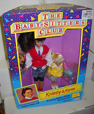#6194 NRFB Vintage Remco the Babysitters Club Kristy & Karen Dolls