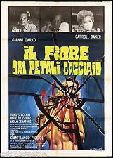 IL FIORE DAI PETALI D'ACCIAIO MANIFESTO CINEMA THRILLER 1973 MOVIE POSTER 2F