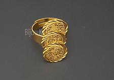 Yüzük 22 Ayar Altin Kaplama Ceyrek Gold Münzen Ring Gold Ring Gelin Dügün Henna