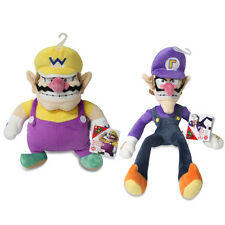 Set of 2 - Wario & Waluigi - Sanei Super Mario All Star Collection Stuffed Plush
