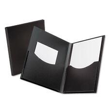 Oxford Double Stuff 2-Pocket Polypropylene Folder, 200-Sheet Capacity Black